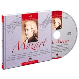 Wolfgang Amadeus Mozart, Mari compozitori, Vol. 10  [Carte + Audio CD]