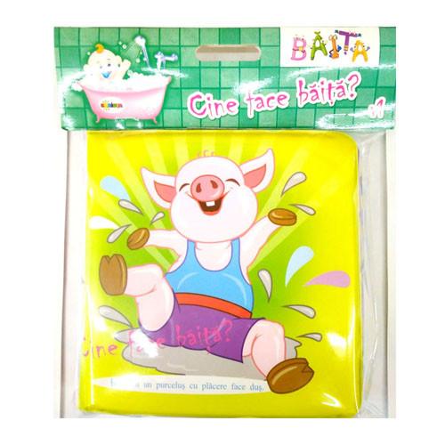 Carte pentru baie - Cine face băiță? 1  Vârsta 0+