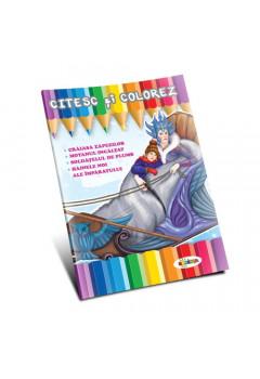 Citesc și colorez - Crăiasa zăpezilor
