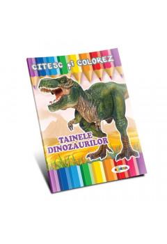 Citesc și colorez - Tainele dinozaurilor