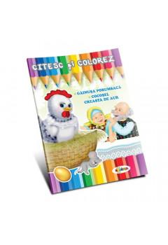 Citesc și colorez - Găinușa porumbacă