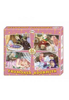 Puzzle Frumoasa adormită (4 imagini în cutie)