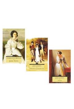 """Pachet Mari Clasici """"Mândrie și prejudecată"""", """"Emma"""" și """"Jane Eyre"""""""