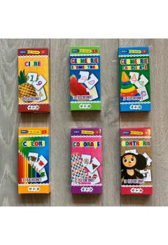 """Colecția """"Învățăm și ne distrăm""""   62 de fișe cartonate + mini puzzluri"""