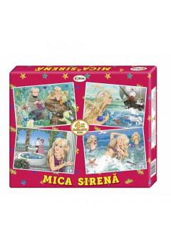Puzzle Mica Sirenă (4 imagini în cutie)