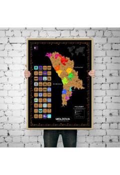 Harta Răzuibilă a Moldovei