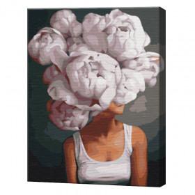 Bujori înfloriți, 40х50 cm (pictură pe numere)