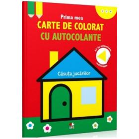 Prima mea carte de colorat cu autocolante. Căsuța jucăriilor