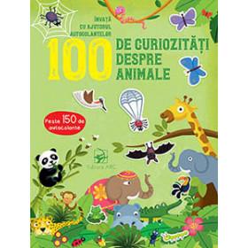 100 de Curiozități despre Animale. Învață cu Ajutorul Autocolantelor