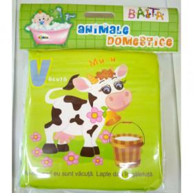 Carte pentru baie - Animale domestice Vârsta 0+