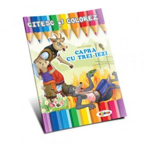 Citesc și colorez - Capra cu trei iezi