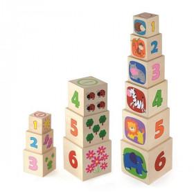 Jucărie Interactivă 6 Cuburi din Lemn