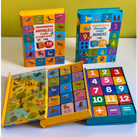 Colecția 15 Cărți-Cuburi Animalele Mele Preferate și 15 Cărți-Cuburi Primele Mele Numere (0-3 ani)