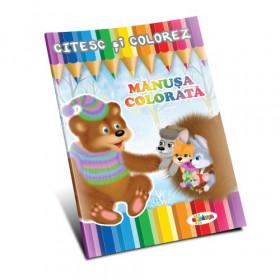 Citesc și colorez - Mănușa colorată