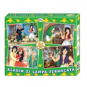 Puzzle Aladin (4 imagini în cutie)