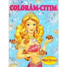 Mica-Sirenă. Colorăm-Citim