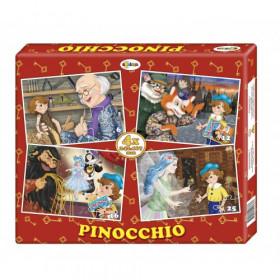 Puzzle Pinocchio (4 imagini în cutie)
