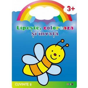 Lipește, Colorează și învață Albinuța Cuvinte 2