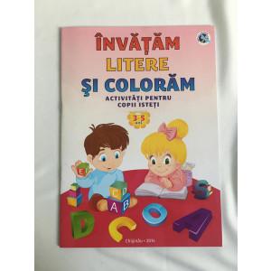 Învățăm litere și colorăm Activități pentru copii isteți 3-5 ani