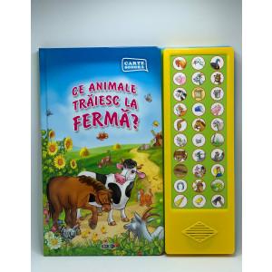 Carte sonoră. Ce animale trăiesc la fermă?