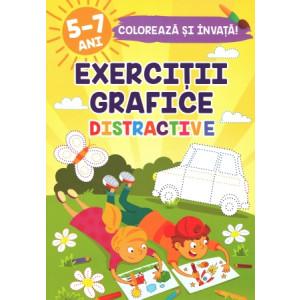 Colorează și învață Exerciții grafice distractive 5-7 ani