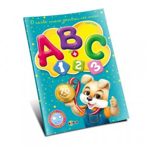 ABC + 1,2,3 O carte mare pentru cei mici (70 autocolante)