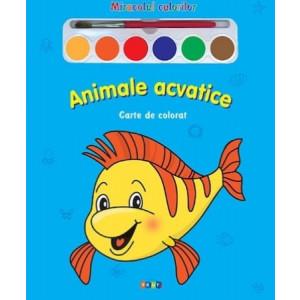 Miracolul culorilor. Animale acvatice - Carte de colorat