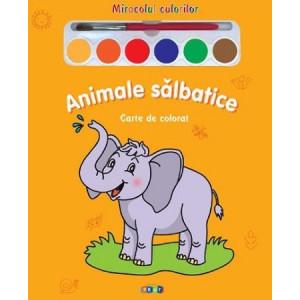 Animale salbatice - Miracolul culorilor - Carte de colorat