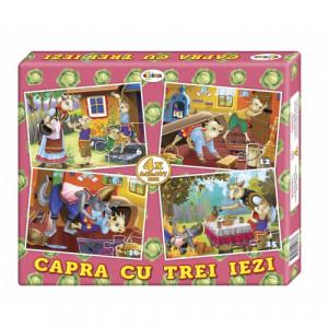 Puzzle Capra cu trei iezi (4 imagini în cutie)