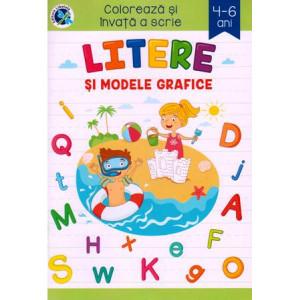Colorează și învață a scrie Litere și modele grafice 4-6 ani