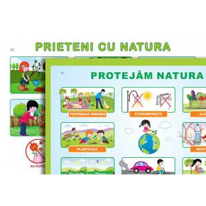 Planșă. Prieteni cu natura + Protejăm natura