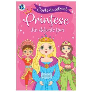 Carte de colorat Prințese din diferite țări